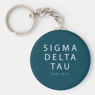 Sigma Delta Tau | Modern Type Key Ring