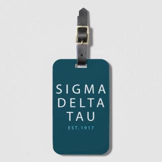 Sigma Delta Tau | Modern Type Luggage Tag