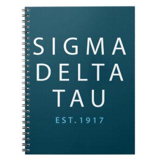 Sigma Delta Tau | Modern Type Notebook