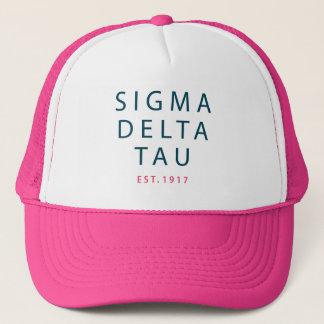 Sigma Delta Tau | Modern Type Trucker Hat