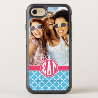 Sigma Delta Tau | Monogram and Photo OtterBox Symmetry iPhone 8/7 Case