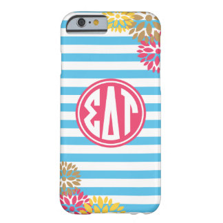 Sigma Delta Tau | Monogram Stripe Pattern Barely There iPhone 6 Case