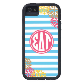 Sigma Delta Tau | Monogram Stripe Pattern Case For The iPhone 5
