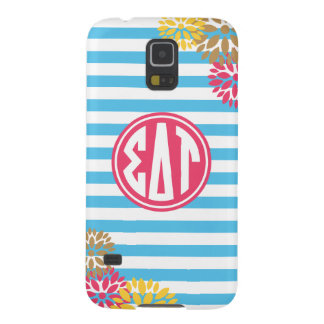 Sigma Delta Tau | Monogram Stripe Pattern Galaxy S5 Cover