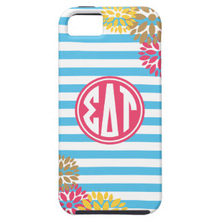 Sigma Delta Tau | Monogram Stripe Pattern iPhone 5 Cover
