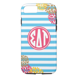Sigma Delta Tau | Monogram Stripe Pattern iPhone 8/7 Case