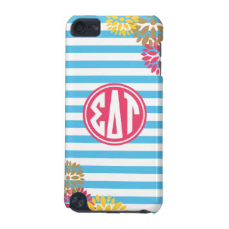 Sigma Delta Tau | Monogram Stripe Pattern iPod Touch 5G Cover