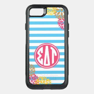 Sigma Delta Tau | Monogram Stripe Pattern OtterBox Commuter iPhone 8/7 Case
