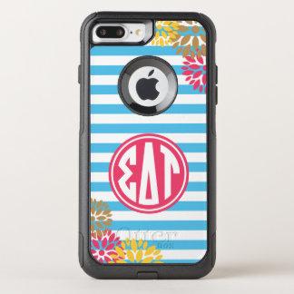 Sigma Delta Tau | Monogram Stripe Pattern OtterBox Commuter iPhone 8 Plus/7 Plus Case