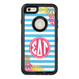 Sigma Delta Tau | Monogram Stripe Pattern OtterBox Defender iPhone Case