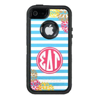 Sigma Delta Tau | Monogram Stripe Pattern OtterBox iPhone 5/5s/SE Case