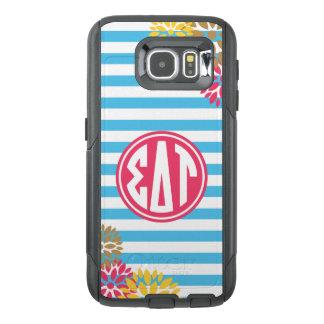 Sigma Delta Tau | Monogram Stripe Pattern OtterBox Samsung Galaxy S6 Case