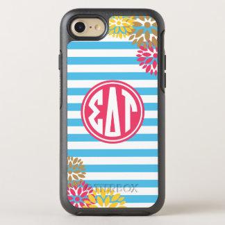 Sigma Delta Tau | Monogram Stripe Pattern OtterBox Symmetry iPhone 7 Case