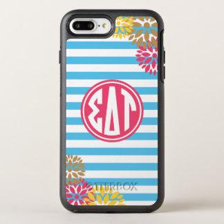 Sigma Delta Tau | Monogram Stripe Pattern OtterBox Symmetry iPhone 8 Plus/7 Plus Case
