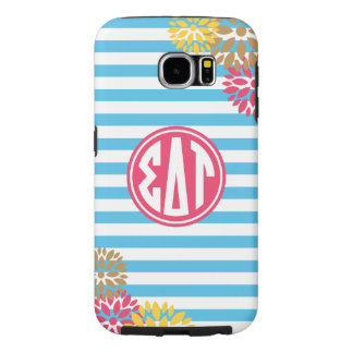 Sigma Delta Tau | Monogram Stripe Pattern Samsung Galaxy S6 Cases