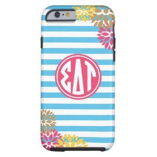 Sigma Delta Tau | Monogram Stripe Pattern Tough iPhone 6 Case