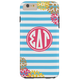 Sigma Delta Tau | Monogram Stripe Pattern Tough iPhone 6 Plus Case