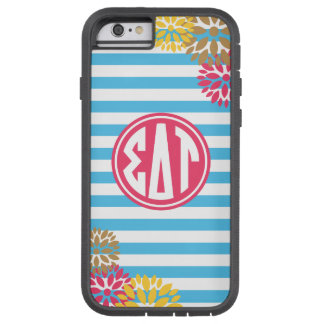 Sigma Delta Tau | Monogram Stripe Pattern Tough Xtreme iPhone 6 Case