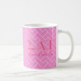 Sigma Delta Tau Pink Letters Coffee Mug