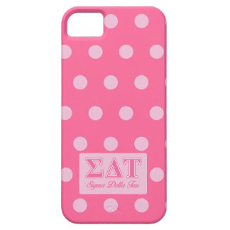 Sigma Delta Tau Pink Letters iPhone 5 Cover