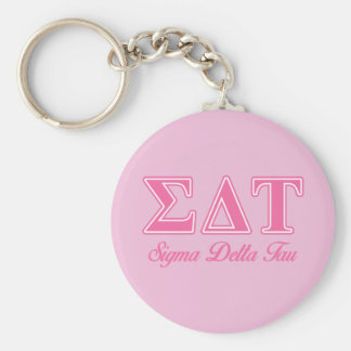 Sigma Delta Tau Pink Letters Key Ring