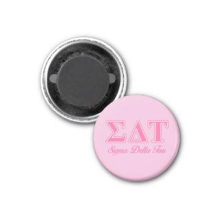 Sigma Delta Tau Pink Letters Magnet