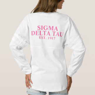 Sigma Delta Tau Pink Letters Spirit Jersey