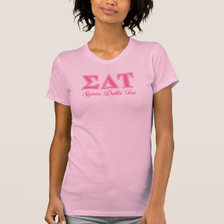 Sigma Delta Tau Pink Letters T-Shirt
