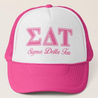 Sigma Delta Tau Pink Letters Trucker Hat