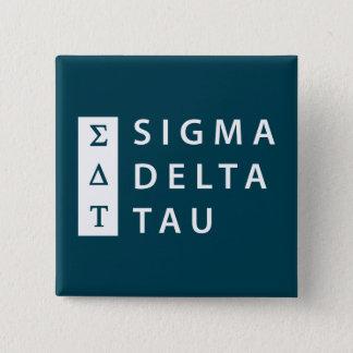 Sigma Delta Tau | Stacked 15 Cm Square Badge