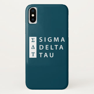 Sigma Delta Tau | Stacked iPhone X Case
