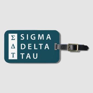 Sigma Delta Tau | Stacked Luggage Tag