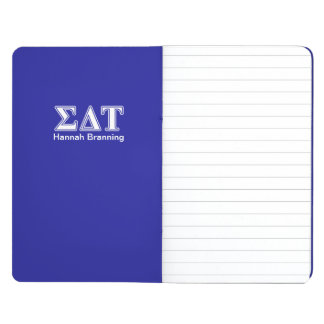 Sigma Delta Tau White and Blue Letters Journal