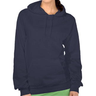 Sigma Delta Tau White and Blue Letters Hooded Pullovers