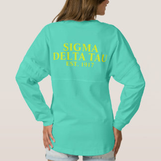 Sigma Delta Tau Yellow and White Letters Spirit Jersey