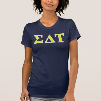 Sigma Delta Tau Yellow and White Letters T-Shirt
