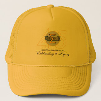 Sigma Gamma Nu 45th Anniversary Gold Hat