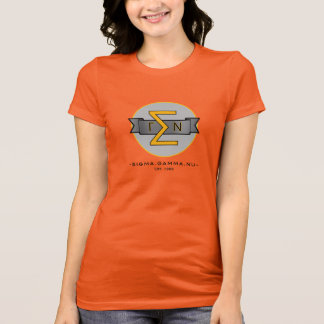 Sigma Gamma Nu Classic LogTee with Blk Lettering T-Shirt