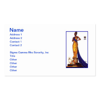 Sigma Gamma Rho Sorority Business Cards