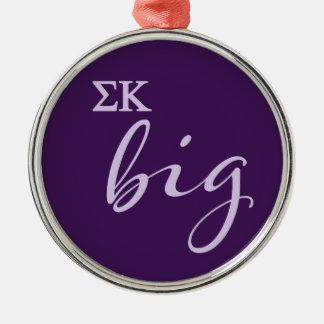 Sigma Kappa Big Script Christmas Ornament