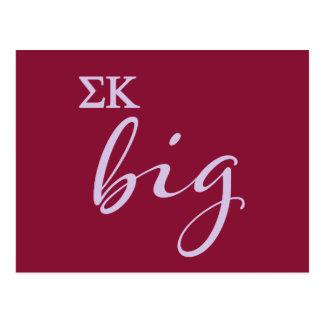 Sigma Kappa Big Script Postcard