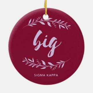 Sigma Kappa Big Wreath Christmas Ornament