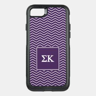Sigma Kappa   Chevron Pattern OtterBox Commuter iPhone 8/7 Case