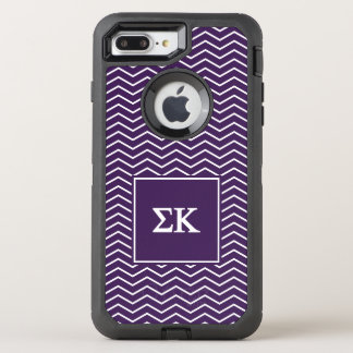 Sigma Kappa | Chevron Pattern OtterBox Defender iPhone 7 Plus Case