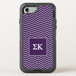 Sigma Kappa   Chevron Pattern OtterBox Defender iPhone 8/7 Case