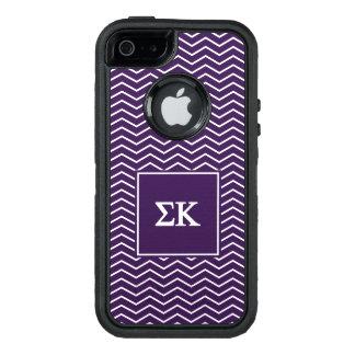 Sigma Kappa | Chevron Pattern OtterBox Defender iPhone Case