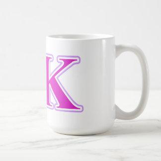 Sigma Kappa Lavender and Pink Letters Basic White Mug