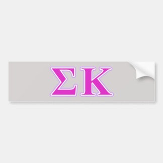 Sigma Kappa Lavender and Pink Letters Bumper Sticker