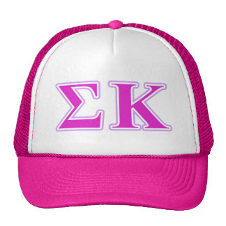 Sigma Kappa Lavender and Pink Letters Cap