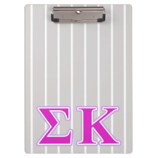 Sigma Kappa Lavender and Pink Letters Clipboard